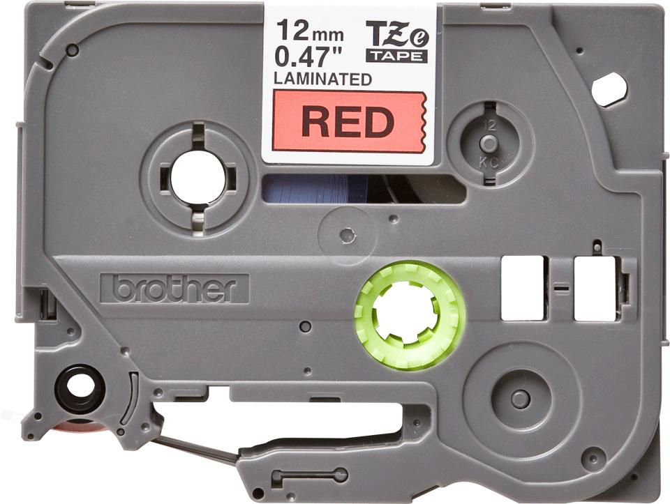 Original Brother TZe431 merketape – sort på rød, 12 mm bred 2