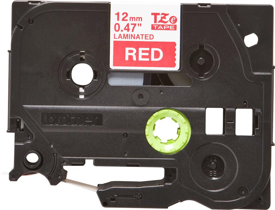 Original Brother TZe435 merketape - hvit på sort, 12 mm bred 2