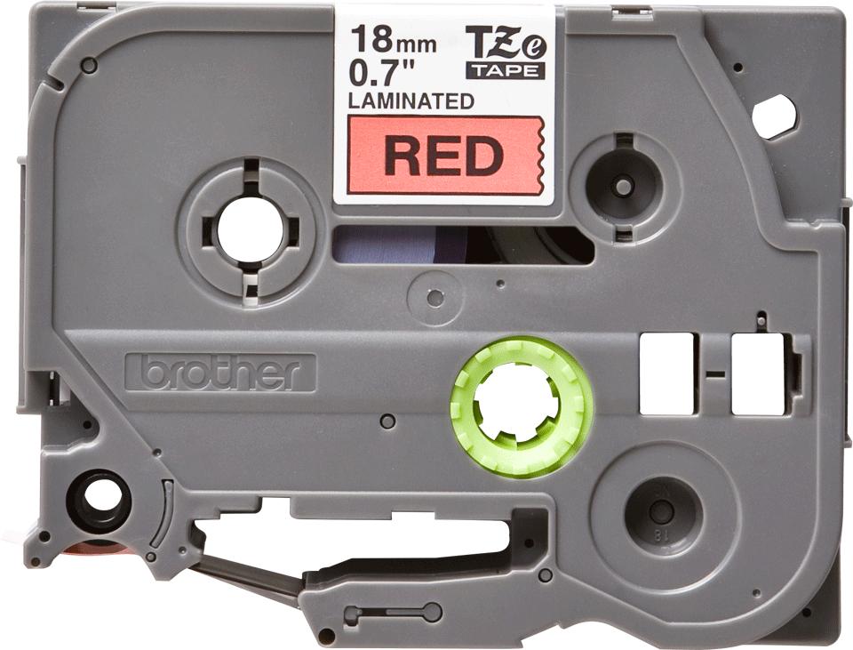 Original Brother TZe441 merketape – sort på rød, 18 mm bred