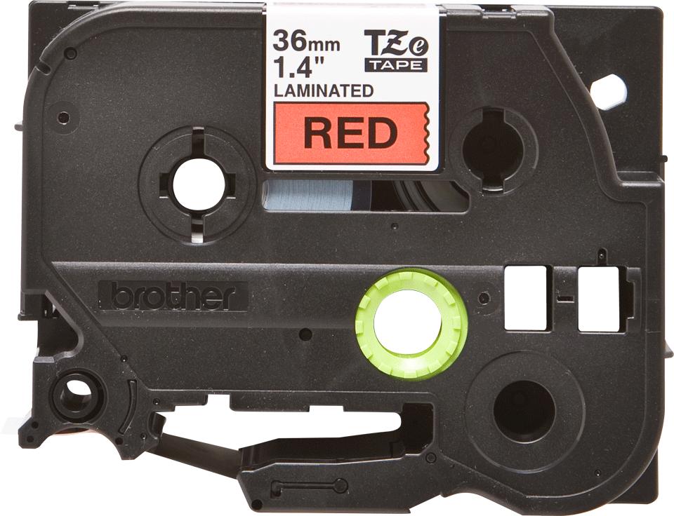Original Brother TZe461 merketape – sort på rød, 36 mm bred 2