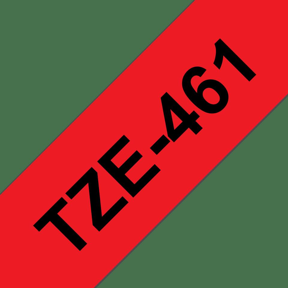 Original Brother TZe461 merketape – sort på rød, 36 mm bred 3