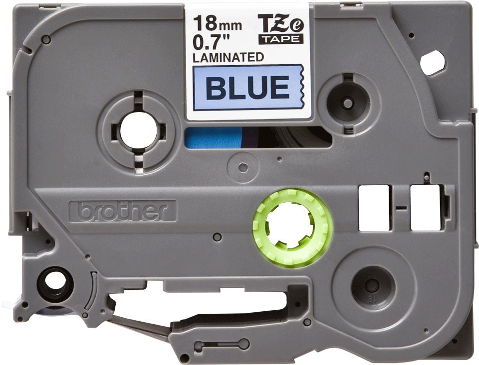 Original Brother TZe541 merketape – sort på blå, 18 mm bred 2