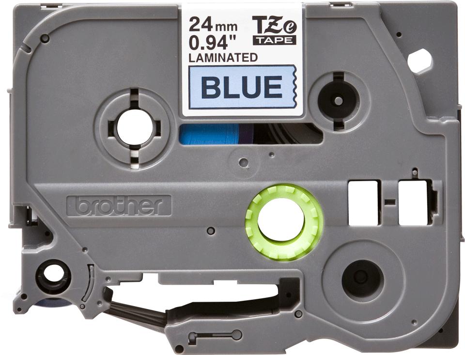 Original Brother TZe551 merketape – sort på blå, 24 mm bred 2