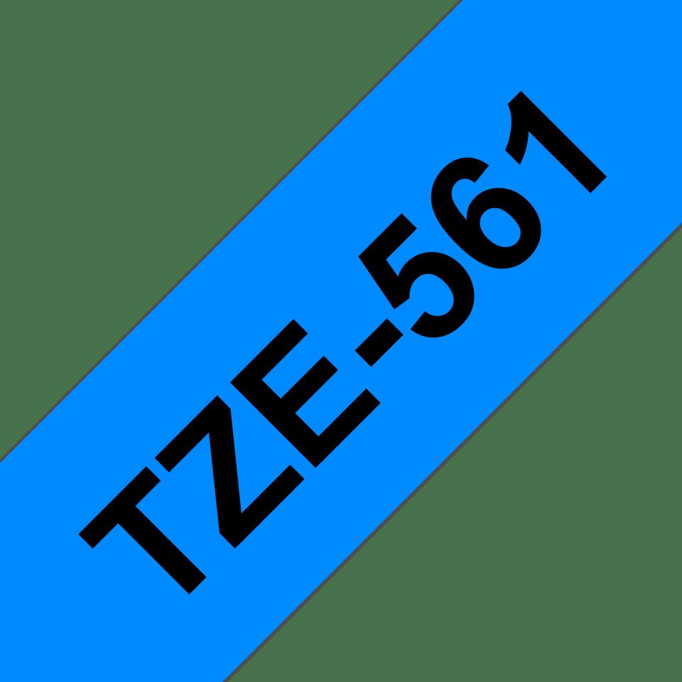 Original Brother TZe561 merketape – sort på blå, 36 mm bred