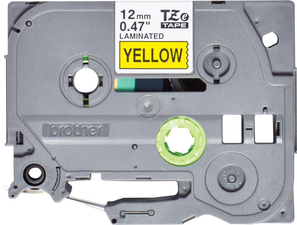 Brother original TZe631S merketape – sort på gul, 12mm bred, 4 m
