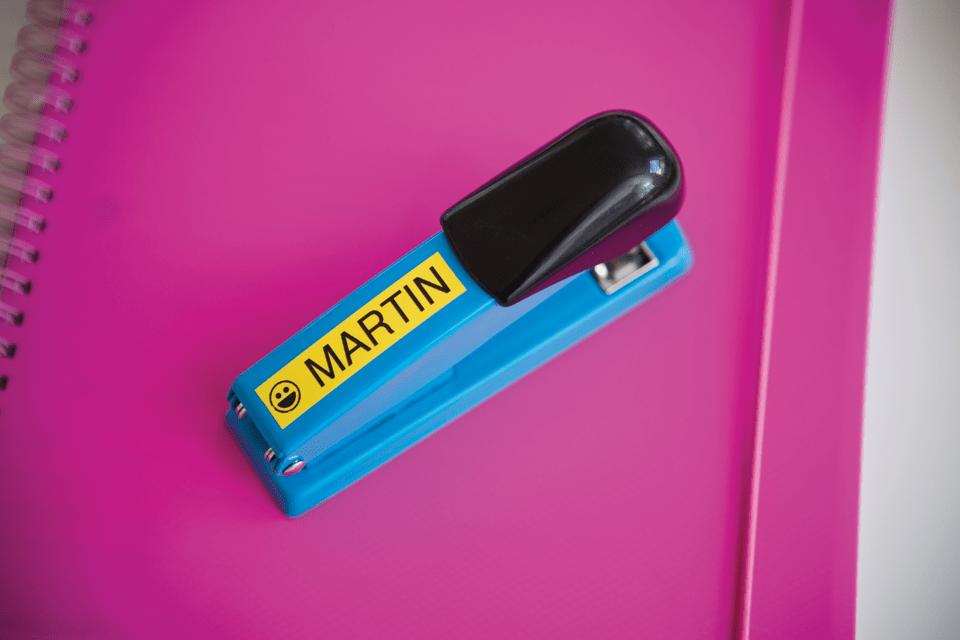 Original Brother TZe641 merketape – sort på gul, 18 mm bred 4