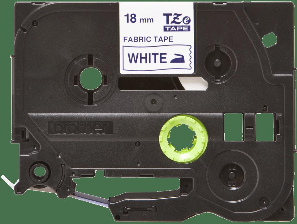 Brother original TZeFA4 tekstiltape - blå på hvit, 18 mm bred 2