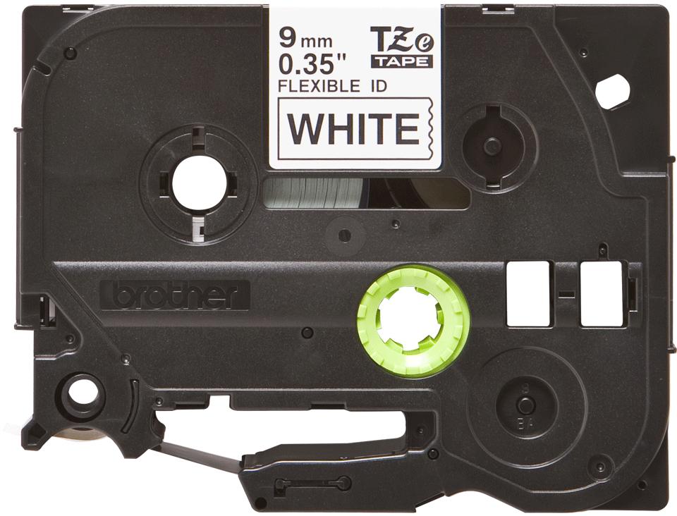 Original Brother TZeFX221 fleksibel ID merketape – sort på hvit, 9 mm bred 2