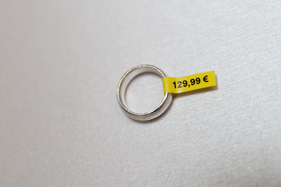 Original Brother TZeFX611 fleksibel ID merketape – sort på gul, 6 mm bred 4