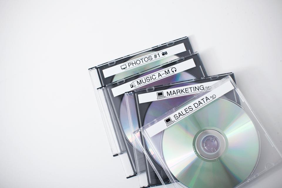 Brother original TZeN231 merketape - sort på hvit ulaminert tape, 12 mm bred 4
