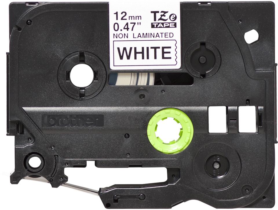 Brother original TZeN231 merketape - sort på hvit ulaminert tape, 12 mm bred 2
