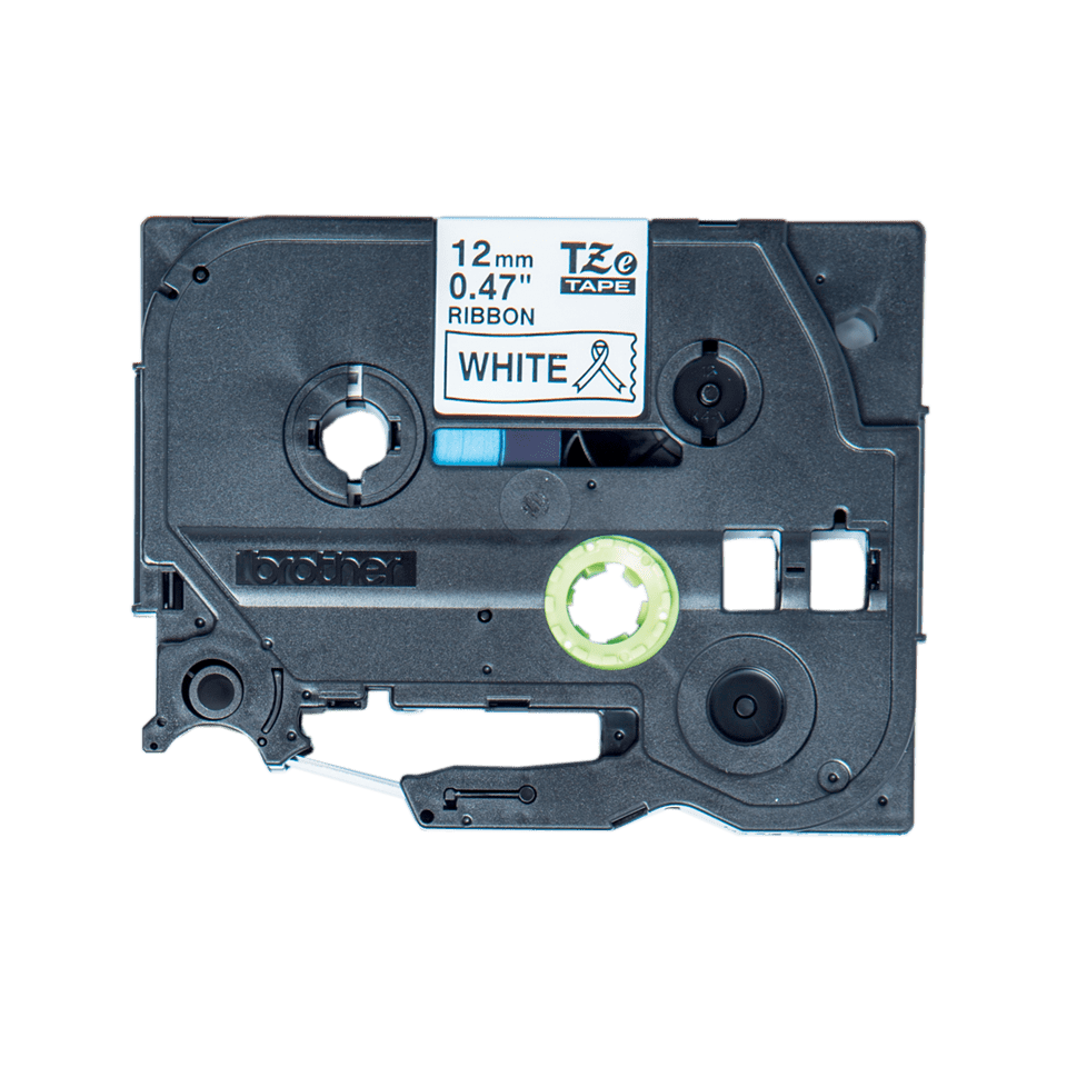 Brother original TZeR231 silkebånd - sort på hvitt, 12 mm bred