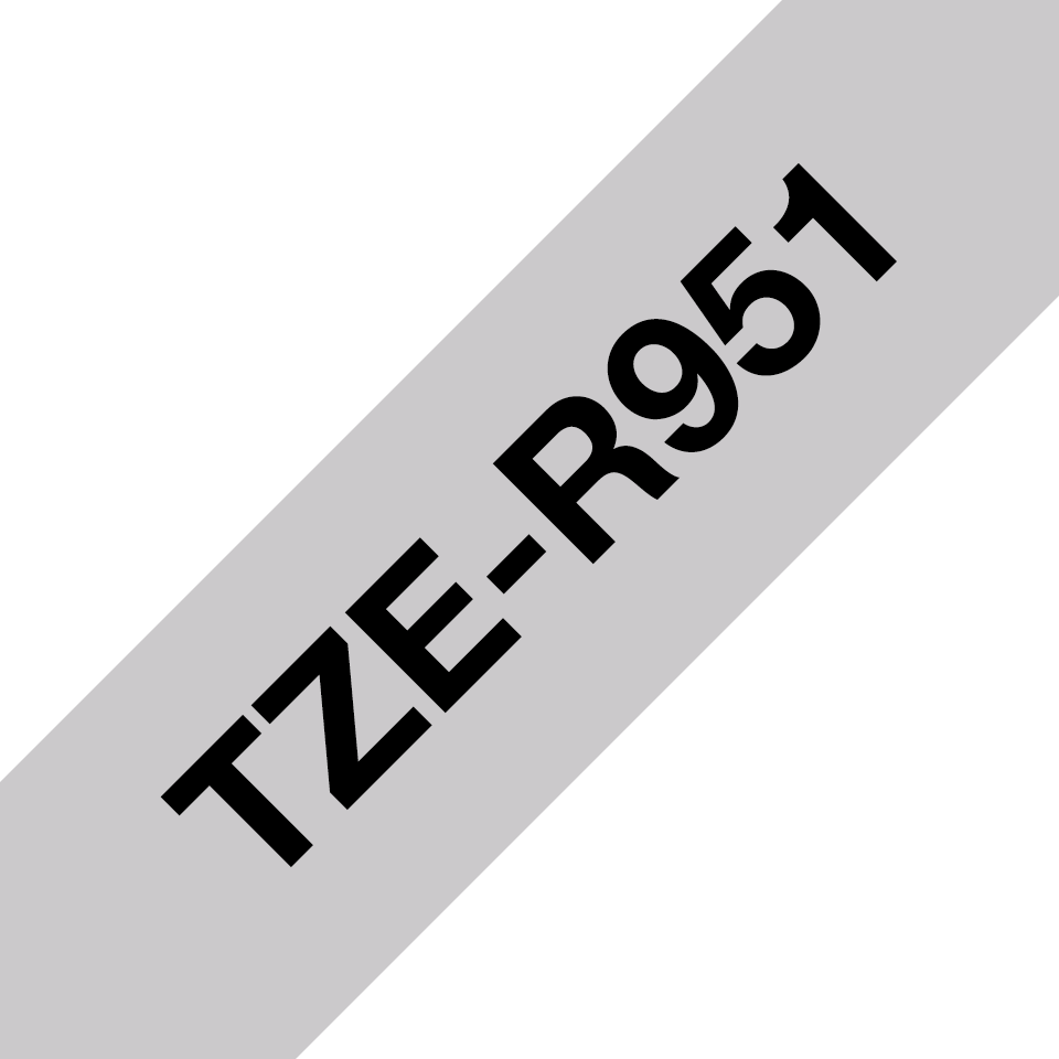 Originalt Brother TZeR951 silkebånd – sort på sølv, 24 mm bred