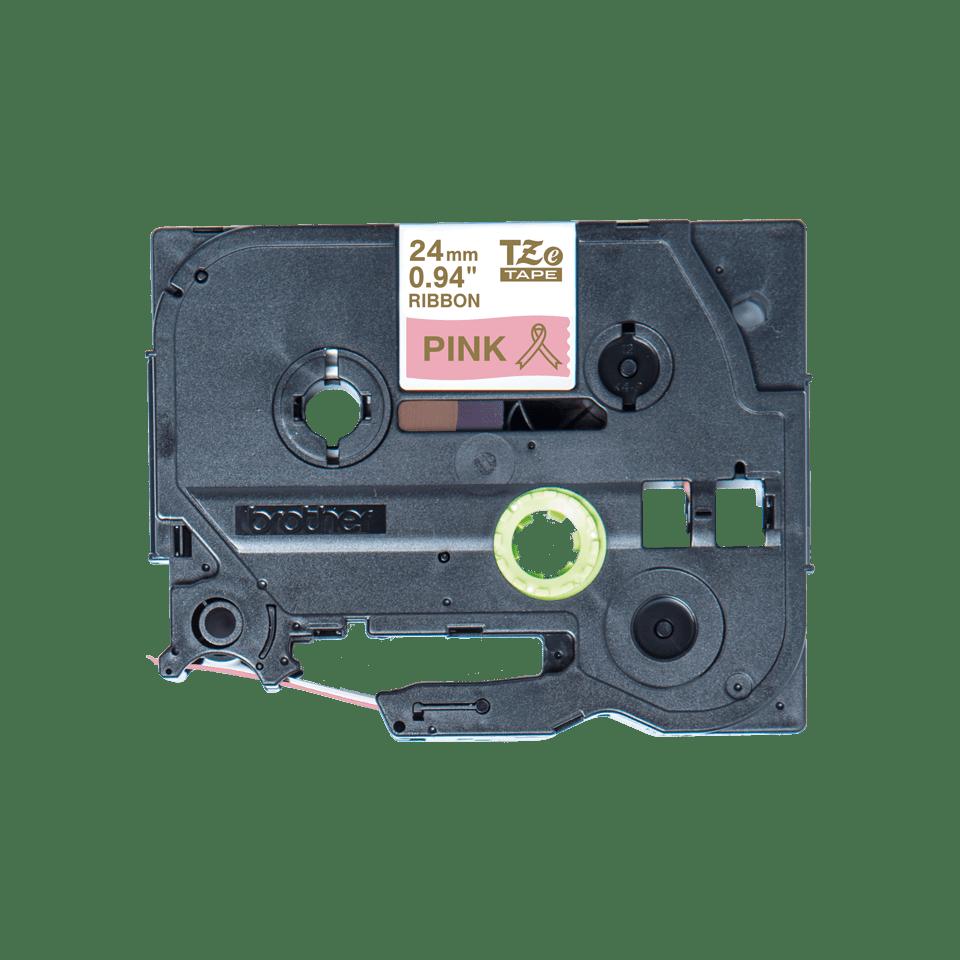 Originalt Brother TZeRE54 silkebånd – gull på rosa, 24 mm bred