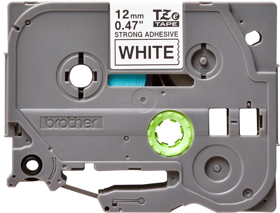 Original Brother TZeS231 merketape – sort på hvit med sterkt lim, 12 mm bred 2