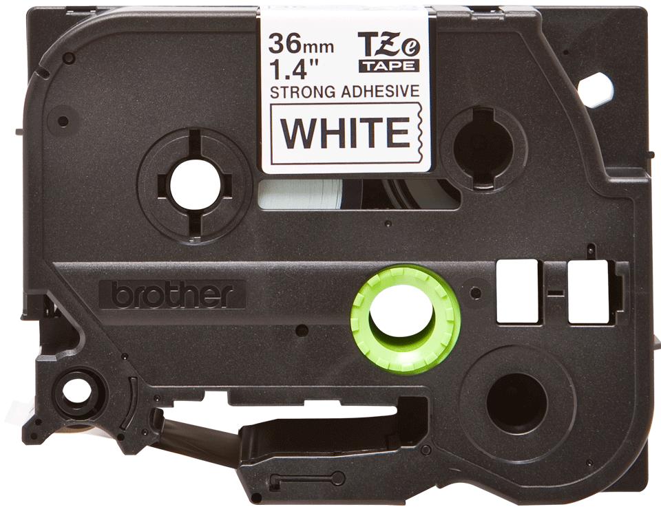 Original Brother TZeS261 merketape – sort på hvit med sterkt lim, 36 mm bred 2