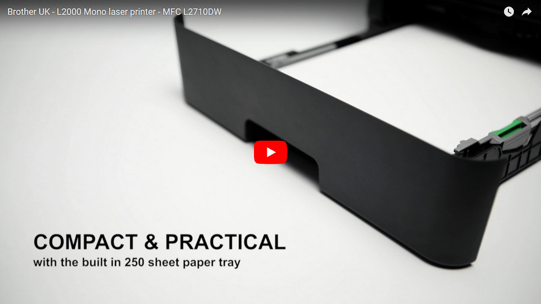 Brother MFCL2710DW kompakt multifunksjon sort-hvitt laserskriver med kablet og trådløst nettverk 8