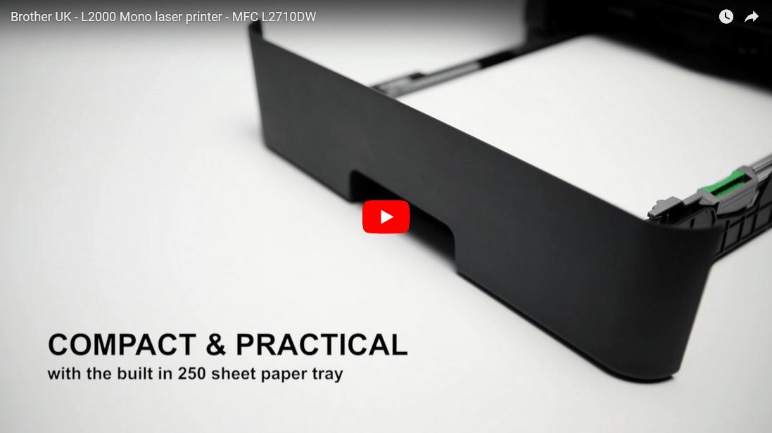 Brother MFCL2710DW kompakt multifunksjon sort-hvitt laserskriver med kablet og trådløst nettverk 7