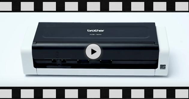 Brother ADS1200 mobil og kompakt dokument skanner 9